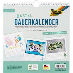 FOLIA Bastel-Dauerkalender 23 x 24 cm weiß