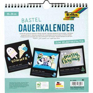 FOLIA Bastel-Dauerkalender 23 x 24 cm schwarz