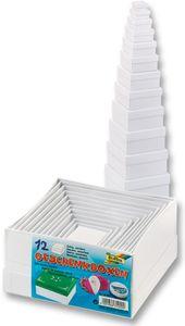 FOLIA Bastelboxen-Set eckig 12 Teile weiß