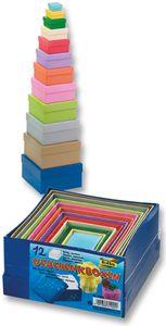 FOLIA Bastelboxen-Set 12 Teile mehrere Farben