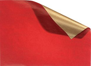 FOLIA Geschenkpapier 70 x 200 cm rot-gold