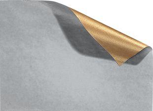 FOLIA Geschenkpapier 70 x 200 cm silber-gold