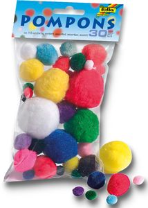FOLIA Pompons 30 Stück mehrere Farben