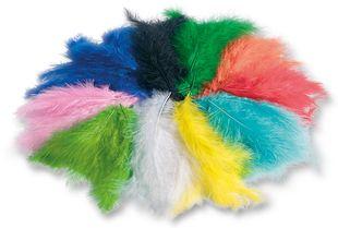 FOLIA Flauschfedern 100 g mehrere Farben