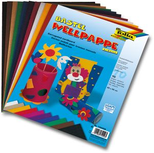 FOLIA Wellpappe 25 x 35 cm 10 Bögen mehrere Farben