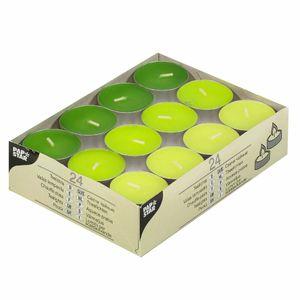 PAPSTAR Teelichter 24 Stück grün