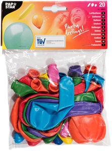 PAPSTAR Ballon 20 Stück verschiedene Formen und Farben