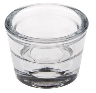 """PAPSTAR Kerzenhalter """"Two in One"""" aus Glas rund Ø 6 cm"""