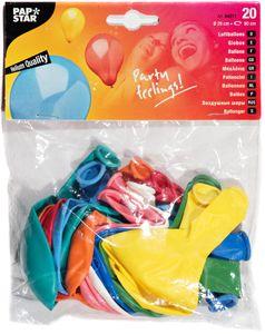 PAPSTAR Rundballon Ø 29 cm 20 Stück verschiedene Farben