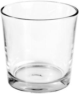 PAPSTAR Kerzenhalter rund Ø 13 cm glasklar