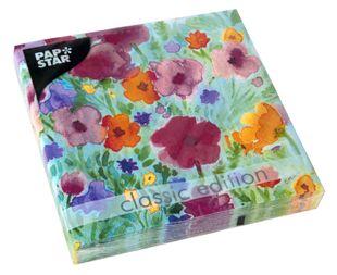 """PAPSTAR Servietten """"Flower Field"""" 20 Stück 33 x 33 cm bunt"""