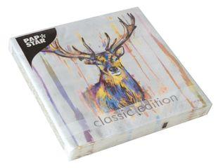 """PAPSTAR Servietten """"Colourful Deer"""" 20 Stück 33 x 33 cm bunt"""