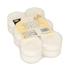 PAPSTAR Maxi Teelichter 12 Stück weiß Ø 57,5 mm