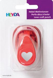 """HEYDA Motivstanzer """"Herz"""" 17 x 10 mm"""