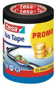 TESA Isolierband 10 m x 15 mm 5 Stück mehrere Farben