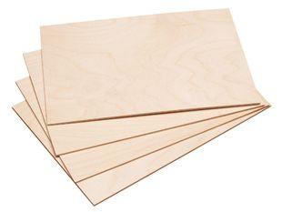 PEBARO Laubsägesperrholz 4 Platten