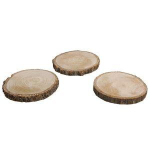 RAYHER Holzscheiben ø 10-12 cm 3 Stück natur