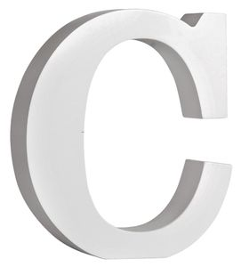 "RAYHER MDF-Buchstabe ""C"" 11 cm weiss"