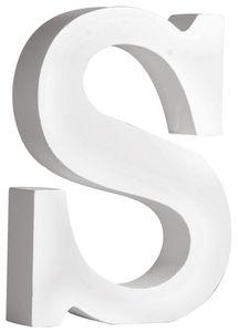 "RAYHER MDF-Buchstabe ""S"" 11 cm weiss"