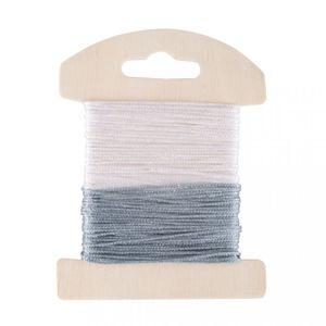 Glimmer-Dekokordel 8m 2 Stück weiß/eisblau
