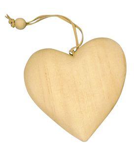 Holzanhänger Herz 7 cm