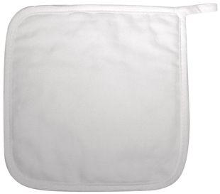 RAYHER Topflappen zum Bemalen 2 Stück 19 x 19 cm weiß
