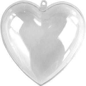 RAYHER Kunststoff-Herz Ø 8 cm 2 Teile transparent