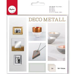 RAYHER Deco-Metall 14 x 14 cm 5 Blatt gold