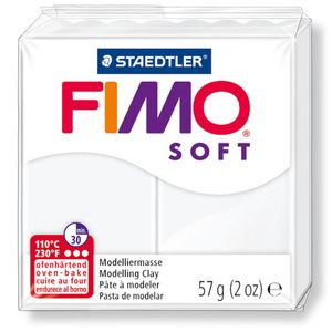 STAEDTLER Fimo Soft Einzelblock ofenhärtend weiß
