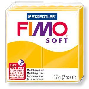 STAEDTLER Fimo Soft Einzelblock ofenhärtend sonnengelb