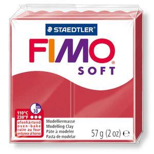 STAEDTLER Fimo Soft Einzelblock ofenhärtend kirschrot