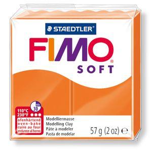STAEDTLER Fimo Soft Einzelblock ofenhärtend mandarine