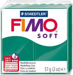 STAEDTLER Fimo Soft Einzelblock ofenhärtend smaragdgrün