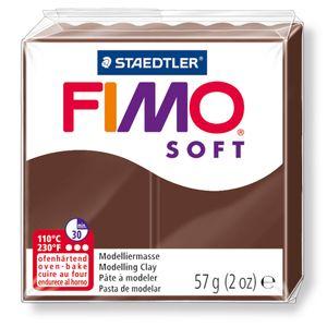 STAEDTLER Fimo Soft Einzelblock ofenhärtend schokolade