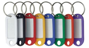 ALCO Schlüsselanhänger 10 Stück mehrere Farben