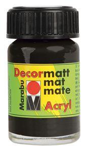 "MARABU Acryfarbe ""Decormatt"" 15 ml schwarz"