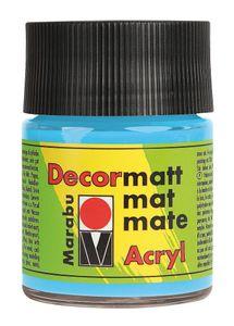 """MARABU Acrylfarbe """"Decormatt Acryl"""" 50 ml hellblau"""
