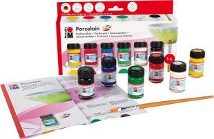 "MARABU Porzellanmalfarbe ""Porcelain"" Starter Set 6 x 15 ml mehrere Farben"