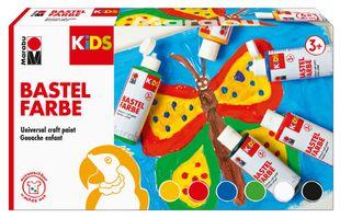 MARABU Kids Bastelfarben-Set 6 x 80 ml mehrere Farben