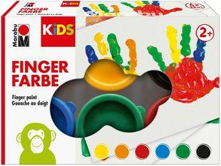 MARABU Kids Fingerfarbenset 6 x 35 ml mehrere Farben