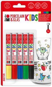 """MARABU Kids """"Porzellan & Glas"""" Stifte-Set 5 Stück mehrere Farben"""