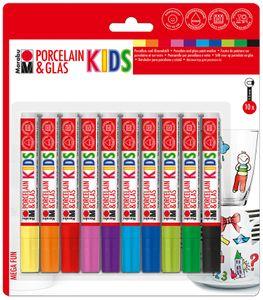 MARABU Kids Porzellan-Glasmaler 10 Stück mehrere Farben