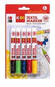 MARABU Kids Textilmarker 5 Stück mehrere Farben