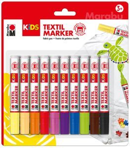 MARABU Kids Textilstifte 10 Stück mehrere Farben