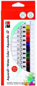 MARABU Aquarellfarben-Set 12 x 12 ml mehrere Farben