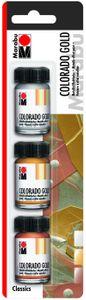 "MARABU Metallic-Effektfarbe-Set ""Colorado Gold Classics"" 3 x 15 ml"