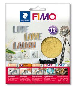 STAEDTLER Fimo Blattmetall 10 Blatt gold