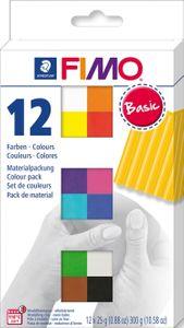 """STAEDTLER Fimo Soft """"Basic"""" mit 12 Blöcken mehrere Farben"""