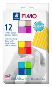 "STAEDTLER Fimo Soft Materialpackung ""Brilliant Colours"" 12 Halbblöcke"