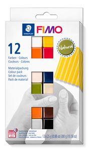 """STAEDTLER Fimo Soft Materialpackung """"Natural Colours"""" 12 Halbblöcke"""